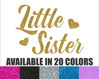 Little Sister Iron On, Sisters Iron On, New Big Sister Iron On, New Baby, Little Sister, Little Sister Glitter Iron On, Little Sister Shirt