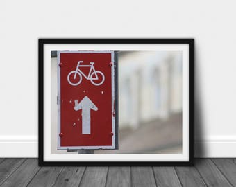 Cyclists, Bicycle Art Decor, Bicycle Wall Art Decor, Bike Art Prints, Bike Wall Art Decor, Bicycle Lover Gift, Modern Bicycle Art Decor