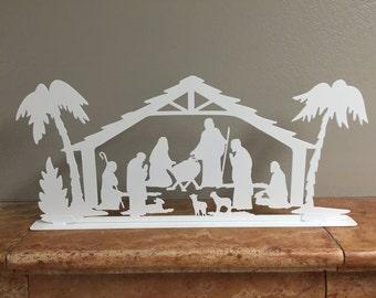 Christmas Nativity mantel piece decoration - 03.  Fireplace Decor, Christmas Decorations.