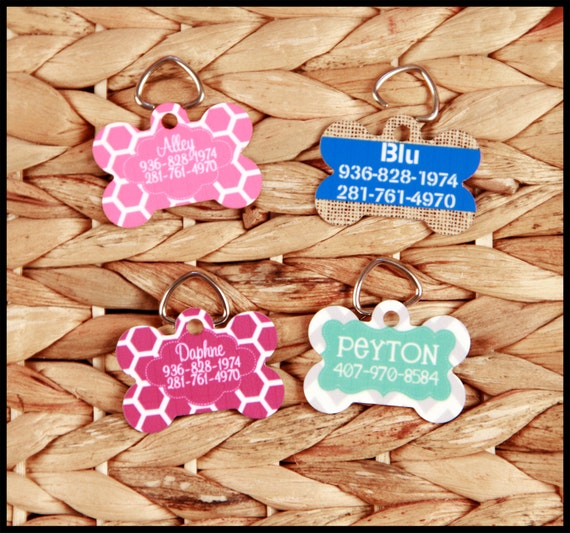 Custom Dog Tags, Personalized Pet Tag With Name & Phone Number, Custom ID Tags for Pets Cats Dogs Dog Tag Personalized Cat Tag Monogram