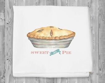 Flour Sack Towel - Sweet as Pie for kitchen