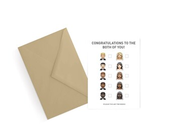 Wedding/Engagement Emoji Greeting Card