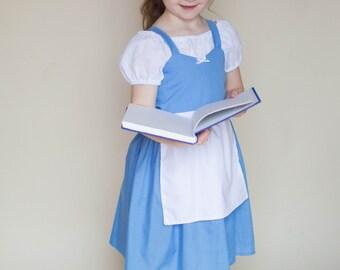 Blue BELLE dress, Belle Provincial dress, Belle costume, Belle dress, every day princess dress, practical princess dress princess play dress