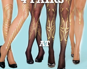 Sale! Save 20% off on 4 pairs of tights of your choice,  available in S-M L-XL