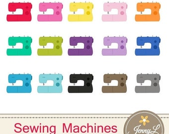 50% OFF Sewing Machine Clipart for Planners, Digital Scrapbooking, Invitations, cupcake toppers, Stickers, Labels