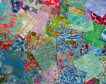100 Liberty Tana Lawn 2.5 inch fabric charm squares - all different - LUCKY DIP