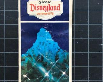1978 Disneyland Souvenir Summer Guidebook