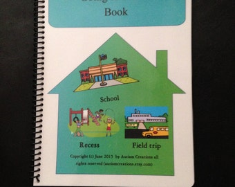 Autism Pecs Going to School Book