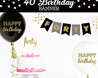 Happy 50th Birthday Banner 50th Birthday Decorations 50th