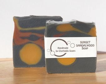 Sunset Sandalwood handmade soap - vegan friendly - palm free - SLS free - paraben free