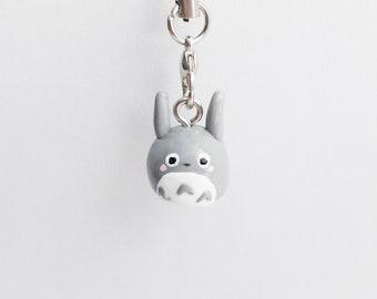 Totoro Charm - Miyazaki Charm - Polymer Clay Charm - Totoro Keychain - Studio Ghibli Figurine - Chibi Totoro - Kawaii Charm