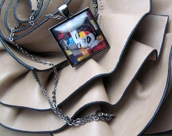 Pendant Necklace - Marilyn In Abstract - Marilyn Monroe - By Mixed Media Artist Malinda Prudhomme
