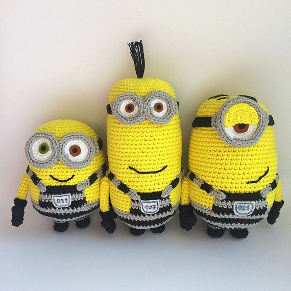 Minions From Despicable Me Cartoon Pdf Crochet Pattern