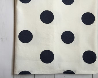 White and Navy Crib Skirt - SALE - Polka Dot - Baby Bedding - Crib Bedding - Nursery - Navy - Ready to Ship - Gender Neutral