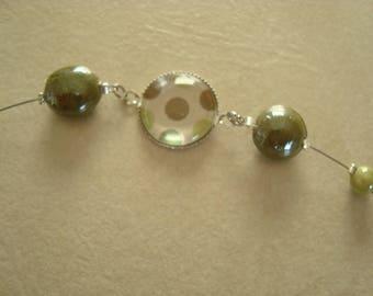 Bracelet cabochon vert