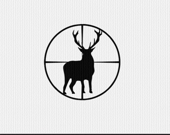 deer scope svg dxf file instant download silhouette cameo cricut clip art commercial use