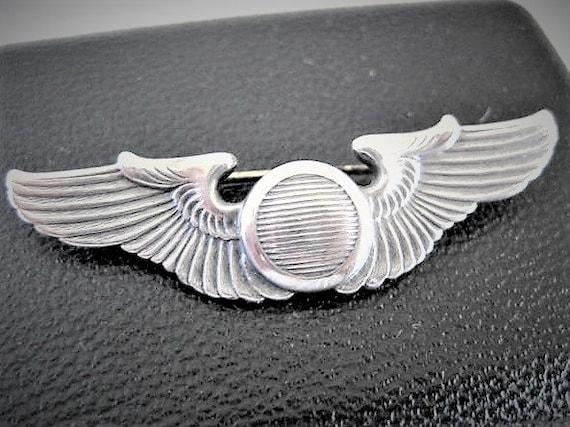 Sterling Military Pin, WW II Wings,  Vintage  Symbols, Pilots Wings , Vintage 40's Brooch