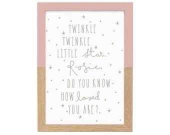 Personalised Twinkle Twinkle Little Star Nursery Print    Nursery decor, Kids print, Quote print, Scandi print, Wall art, New Baby Gift