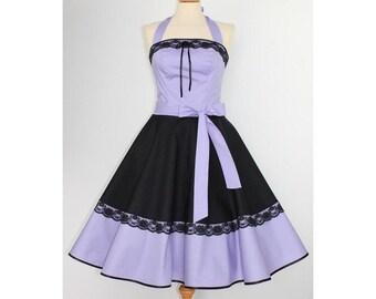 Petticoat dress dress black purple