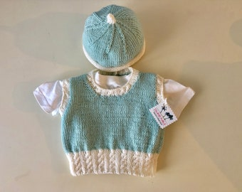 Baby Boy Vest with Hat