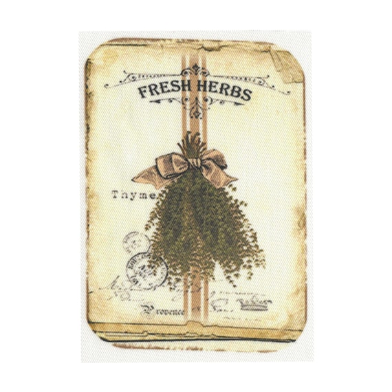 """Applied fusible - """"Fresh herbs"""" Collection AT405-2"""