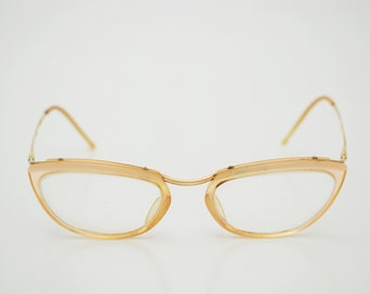 vintage AMOR Eyeglasses France womens 50s 60s positive diopter lens