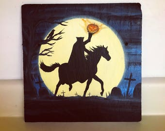 Headless Horseman Sleepy  Hollow , on slate