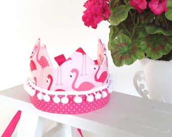 Pin flamingo crown, pink flamingo party crown, pink flamingo birthday accessory