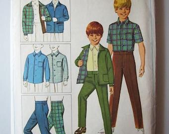 Vintage cut Boys sz 8 (chest 26) Jacket, Shirt and Pants Pattern, 7840