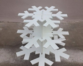 Snowflake 3 tiers cupcake stand