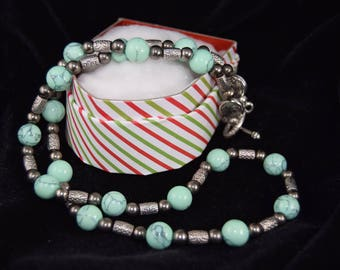 Hematite and Stone Necklace