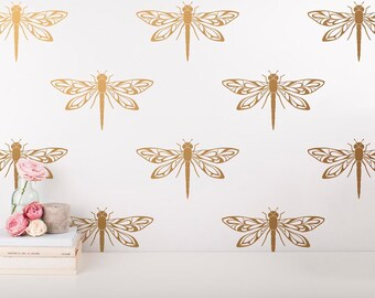 Gold Wall Decals Etsy - Wall decals gold