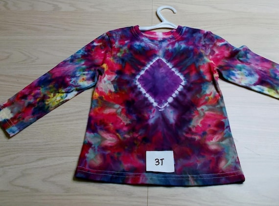 Ice-Dyed tie dyed 3T Toddler Shirt