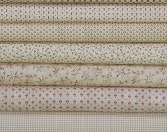 Weekly Special & Free Shipping! 7 Piece Fat Quarter Bundle of Kim Diehl Collections, Cotton Quilt Fabric