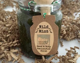 Wild Mint Hand & Body Emulsified Sugar Scrub, 8 oz