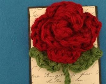 Pin Crocheted Rose