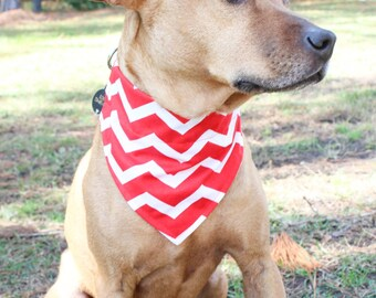 Chevron Dog Bandana - Personailzed Dog Bandana - Chevron Bandana - Red Dog Bandana - Dog Bandana - Valentine's Day Pet