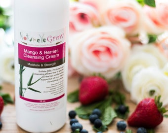 Hair Cleansing Conditioner  Mango & Berries for hair growth - NaturelleGrow