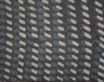 Natural Dye Dhabu Print Mulmul Fabric