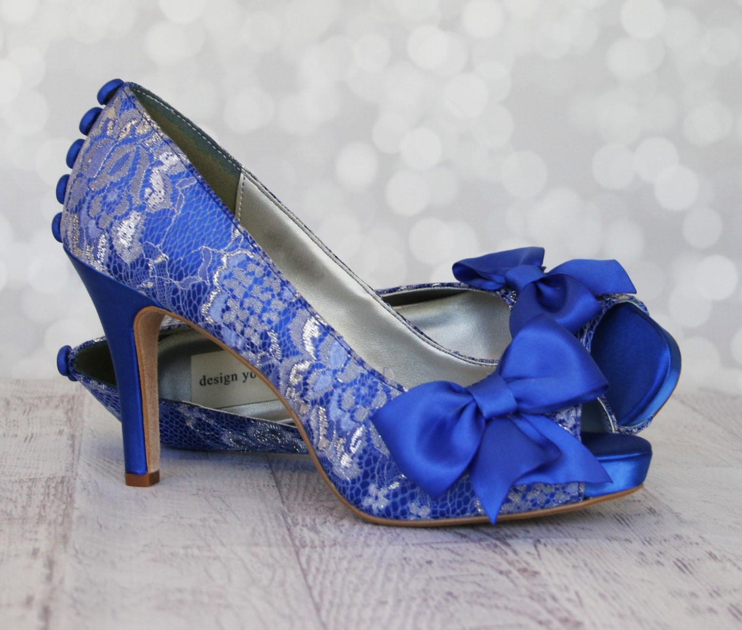 blue shoes wedding wedding shoes royal blue platform peep toe custom wedding 1945