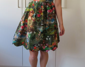Adorable Rustical themed Lolita Spring Dress S