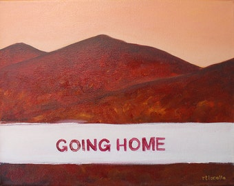 """going home: mt. beacon - painting 14"""" x 11"""""""