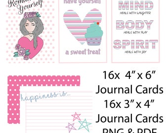 Romance Yourself Digital Journal Card Collection // Self-Love Digital Valentine's Collection