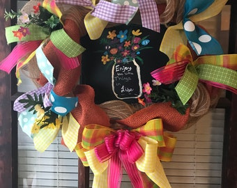 Enjoy life wreath