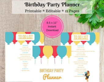 Kids Birthday Party Planner