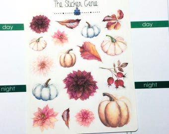 Autumn Bloom Deco | Planner Stickers, Weekly Kit, pumpkin weekly Kit, Full Weekly Kit, pumpkin deco, flower deco, fall weekly kit