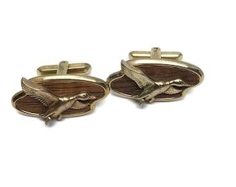 Mid Century Flying Duck Cufflinks, Novelty Cuff Links, Retro Mens Fathers Day Gift Idea, Anniversary Gift, Groom Cufflinks, Mens Jewelry