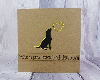 Springer Spaniel birthday card, Personalised funny dog birthday card, Handmade Happy Birthday pun card, Cocker Spaniel, Gun dog, Kraft card