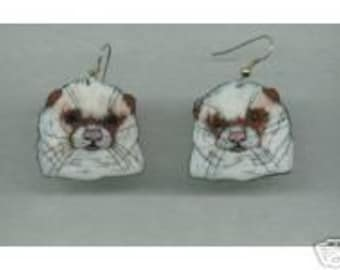 FERRET EARRINGS YOUR COLOR CHOICE