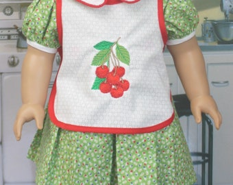 American Girl Style Cherry Apron and Dress